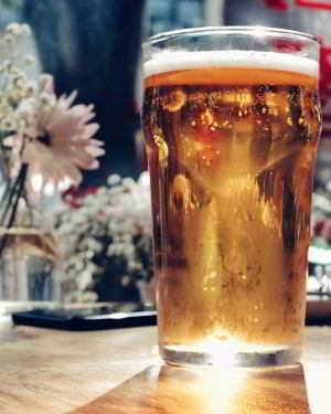 Bier kann helfen wenn es warm getrunken wird